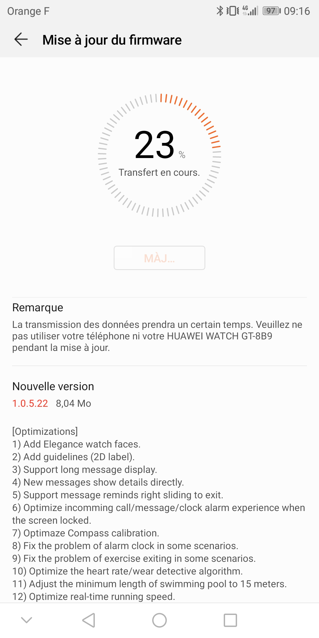 screenshot_20190118-091645-jpg.814 Montres [Firmware] Mise à jour Huawei Watch GT